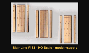 Blair Line 133 HO Laser-cut one-lane Wood Grade Crossing (3 sets)