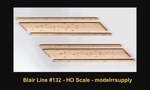 Blair Line 132 HO Laser-cut wood 2-lane angled (L) Grade Crossing