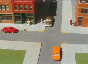 Smalltown 7000 HO City Sidewalks pkg/6 (RIX)