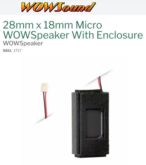 TCS 1717 28mm x 18mm Micro WOWSpeaker With Enclosure - 6 ohm - 1.2W