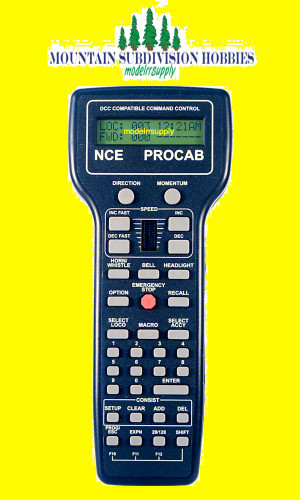 NCE 10 PRO CAB Deluxe DCC Throttle LCD Display
