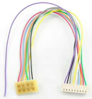"""TCS 1361 3.5"""" Harness 9-pin JST to 8 pin NMRA plug TRAIN CONTROL SYSTEMS"""