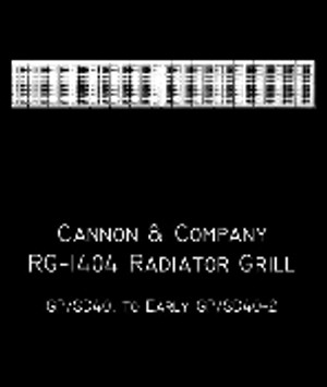 Cannon & Co 1404 EMD Radiator Grilles & Shutters (4) GP/SD40 & -2s