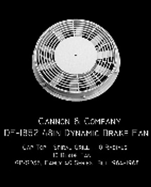 Cannon & Co 1852 Thinwall 48 in Dynamic Brake Fan