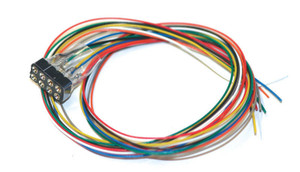ESU 51950 Cable Harness NMRA 8-pin plug, NEM652, DCC Color, 300mm