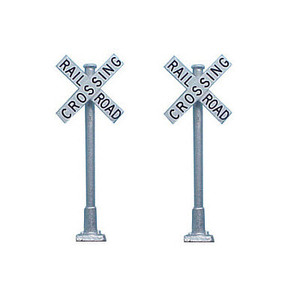 Tomar Industries H-868 HO Crossbucks - 2 Railroad Crossing Signs