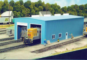 Pikestuff 8 HO Modern 1 or 2 Door Engine House kit