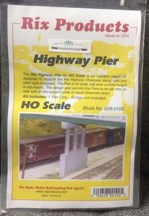 RIX 100 HO Highway Bridge Pier kit - Adjustable Height
