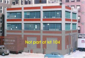 City Classics 104 HO 2 story add-on (for Smallman St Warehouse #103)