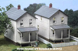 City Classics 112 HO Railroad Street Company House Kit - 3 Pack