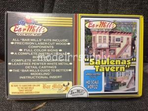 BAR MILLS 932 HO scale Saulena's Tavern - Laser Cut Kit