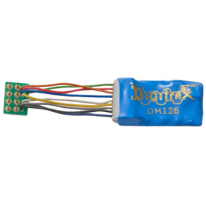 "DIGITRAX DH126Ps - 1.5 Amp 9 Pin to NMRA 8 pin 1"" harness Decoder"