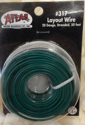 Atlas 319 Layout Wire 20 Gauge 50 Feet Stranded Copper #20 BLUE