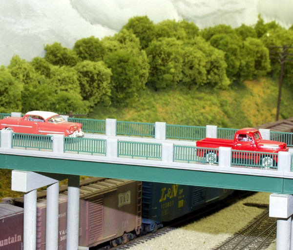RIX 121 HO 50' Wrought Iron Highway Bridge kit