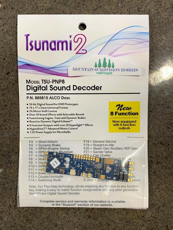 SOUNDTRAXX 885815 Tsunami2 TSU-PNP8 ALCO Diesel Locomotives Sound Decoder - NEW 8 Function