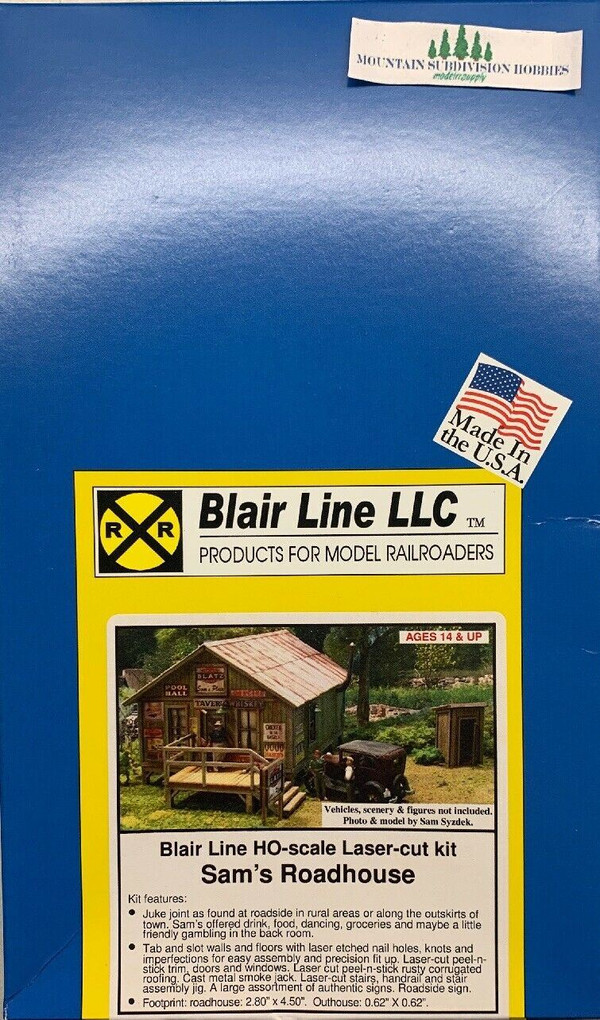 Blair Line 2003 HO Sam's Roadhouse Laser cut kit