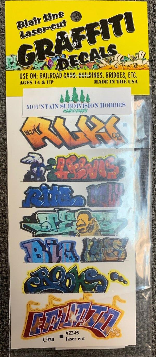 Blair Line 2245 HO Graffiti Mega Decals #2 Laser-cut