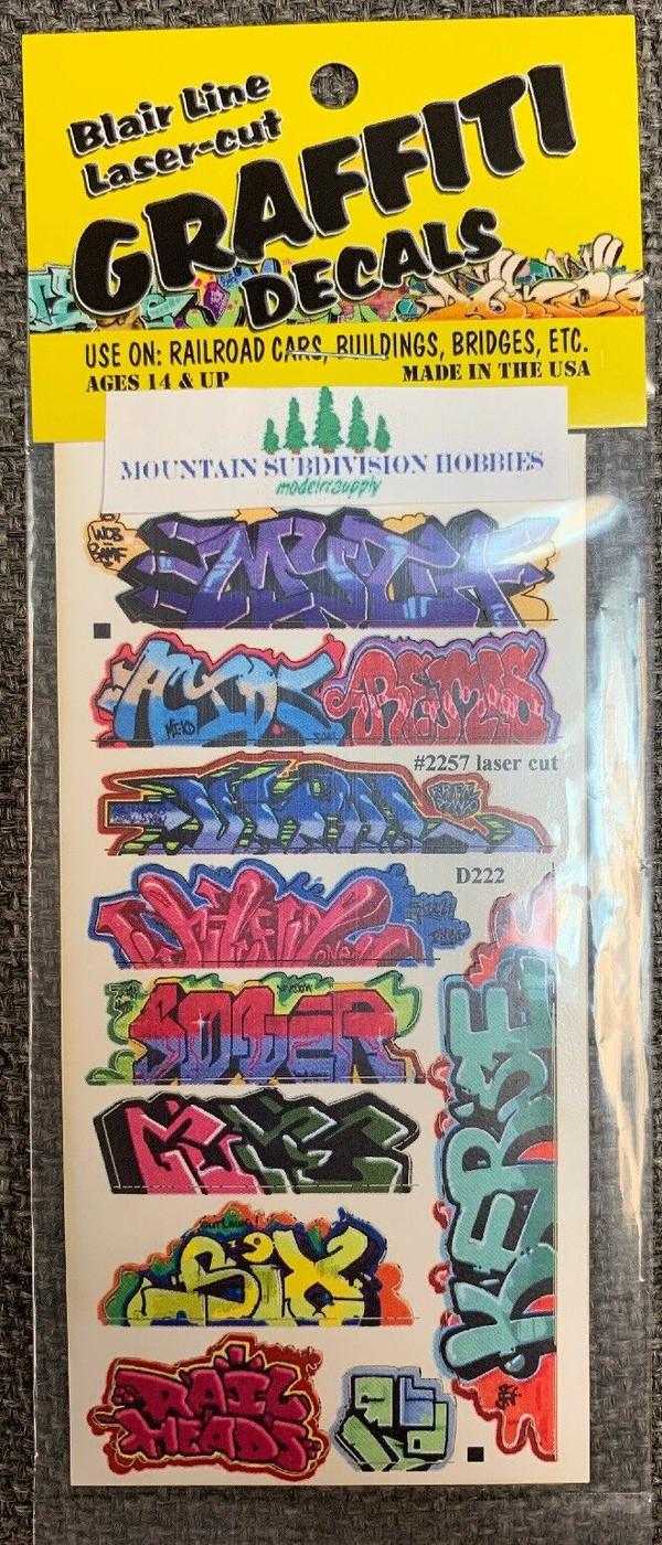 Blair Line 2257 HO Graffiti Mega Decals #8 Laser-cut