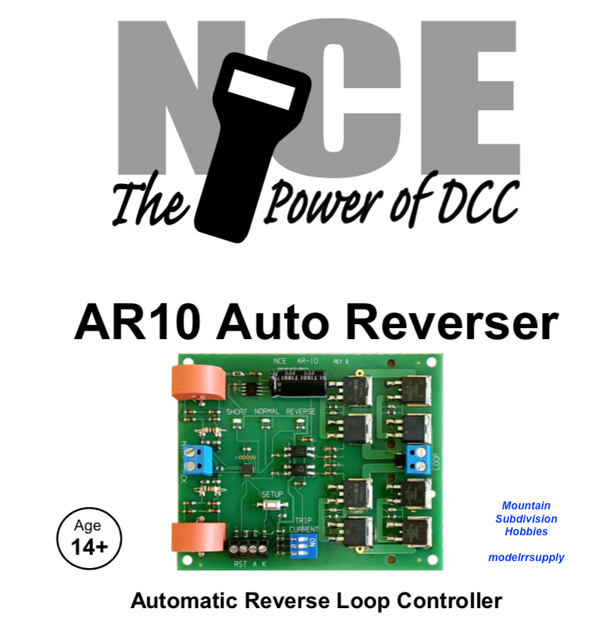 NCE 233 AR10 DCC Automatic Reverse Loop Controller & Circuit Breaker