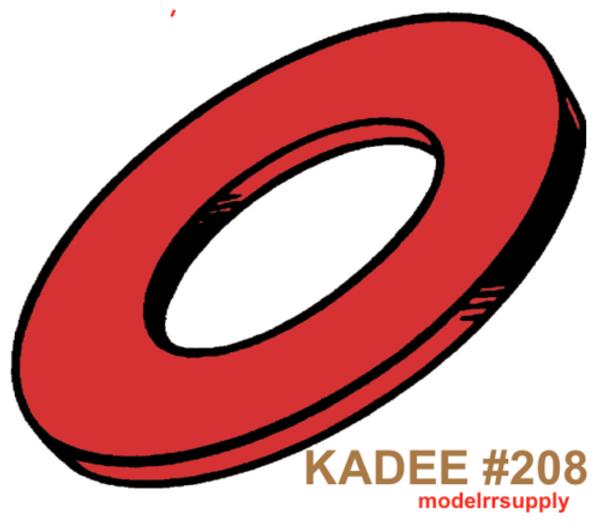 KADEE 208 Red Insulating Fiber Washers .015in Thick (48) GENUINE KADEE