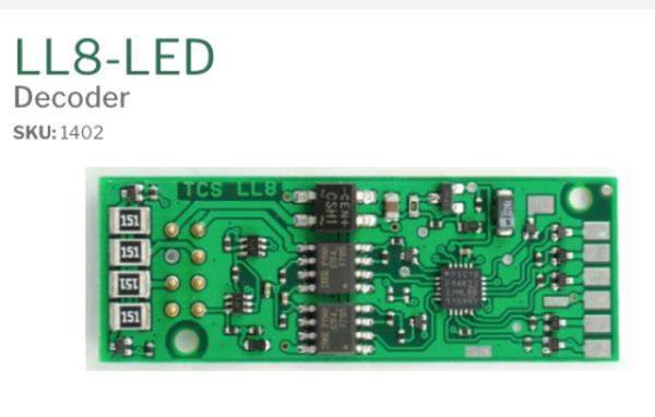 TCS 1402 LL8-LED HO Life-Like Proto 2000 TRAIN CONTROL SYSTEMS