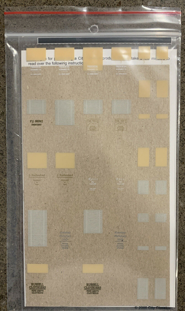 City Classics 701 40-50's Window Dressings for #101 Grant St Building