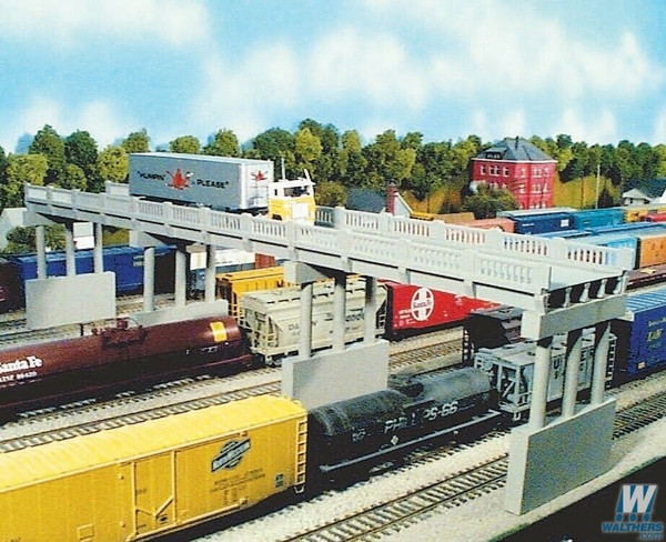 RIX 103 HO 150' Early Style Highway Bridge & 4 piers kit