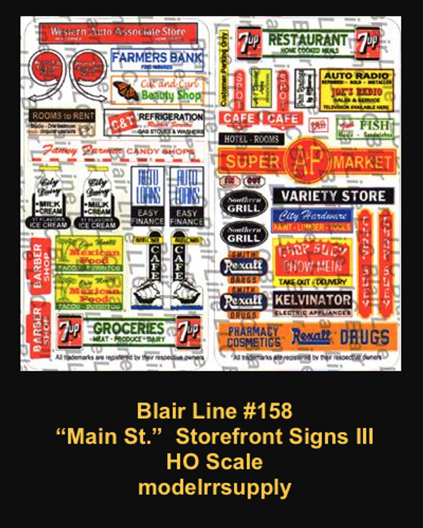 Blair Line 158 Main St. Storefront Signs #3