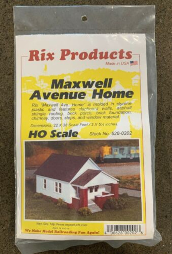 RIX 202 HO 150' Maxwell House with front porch