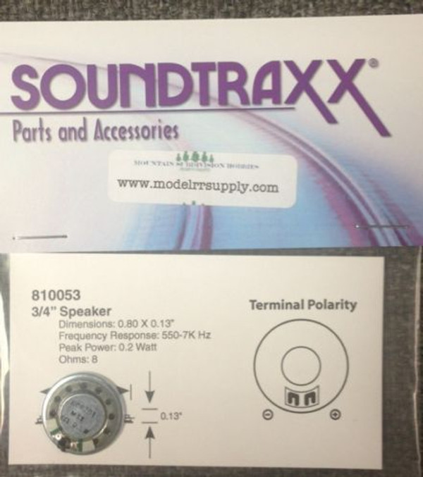 "Soundtraxx 810053 20.5mm 3/4"" Diameter Speaker"