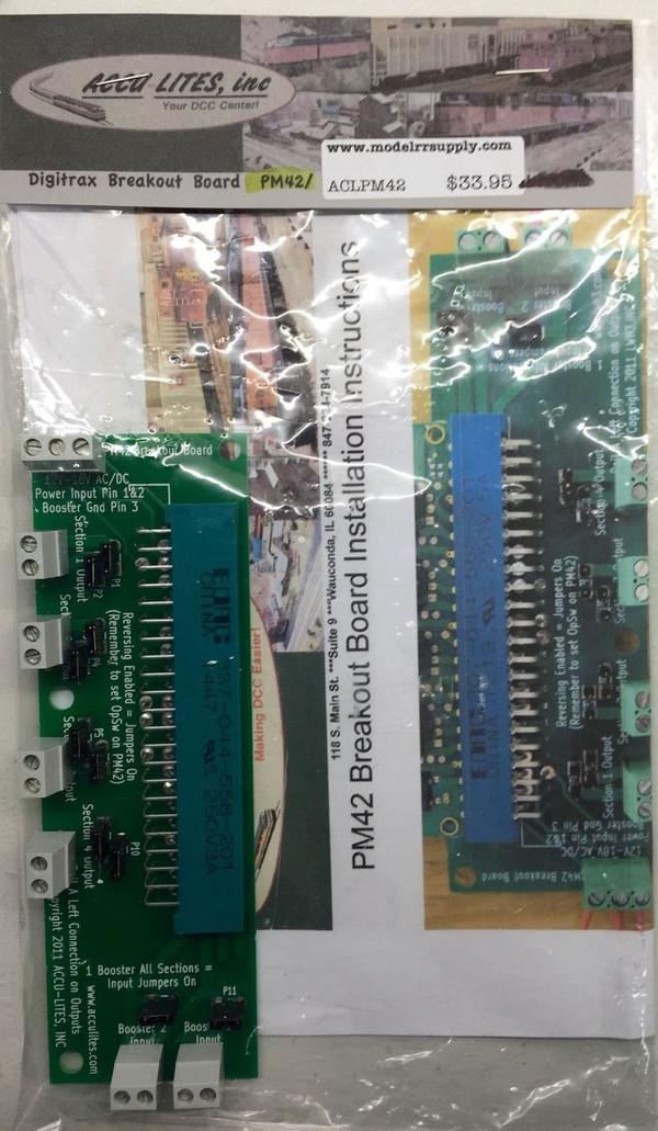 ACCU-LITES PM42 Breakout Board for Digitrax PM42
