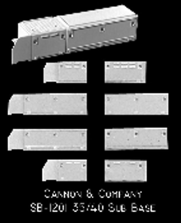 Cannon & Co 1201 EMD Cab Sub Base Kit EMD 35 & 40 series units