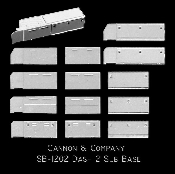 Cannon & Co 1202 Cab Sub Base EMD Dash 2 and 50/60 Series Kit