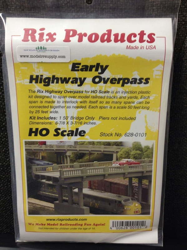 RIX 101 HO Early Style Highway Bridge kit 50'