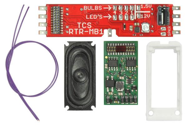 TCS 1755 WOW Diesel Kit Decoder MotherBoard Speaker Enclosure ATHEARN WDK-ATH-7