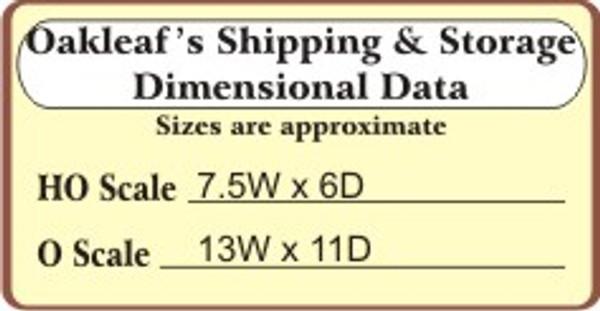 BAR MILLS 182 HO Oakleaf Shipping - Laser-Cut Craftsman Kit