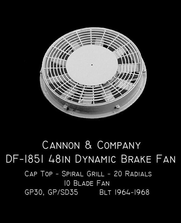 Cannon & Company HO DF-1851 Dynamic Fans GP30 Early 35s