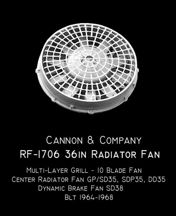 Cannon & Company HO RF-1706 Radiator Fans GP/SD35 ++