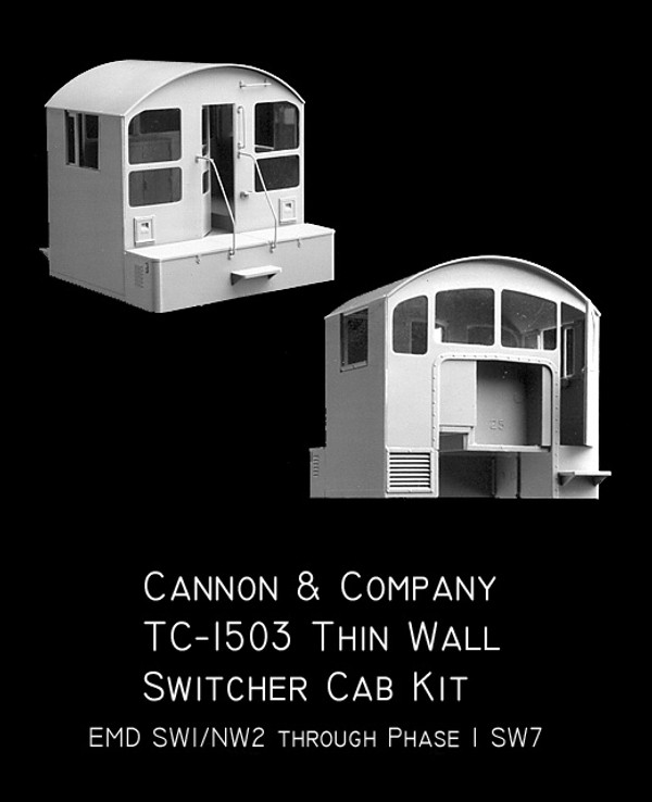 Cannon & Company TC-1503 HO Thinwall Switcher Cab (Early)