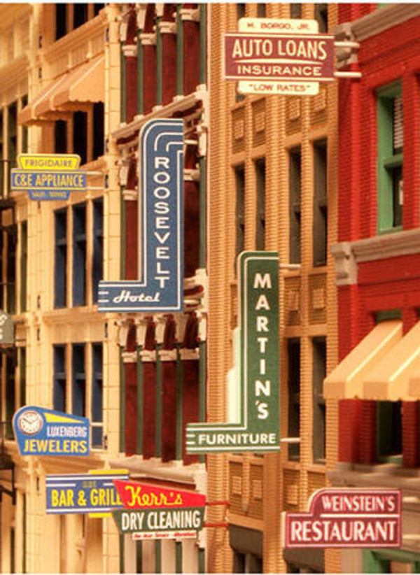 City Classics 850 HO Storefront Signs