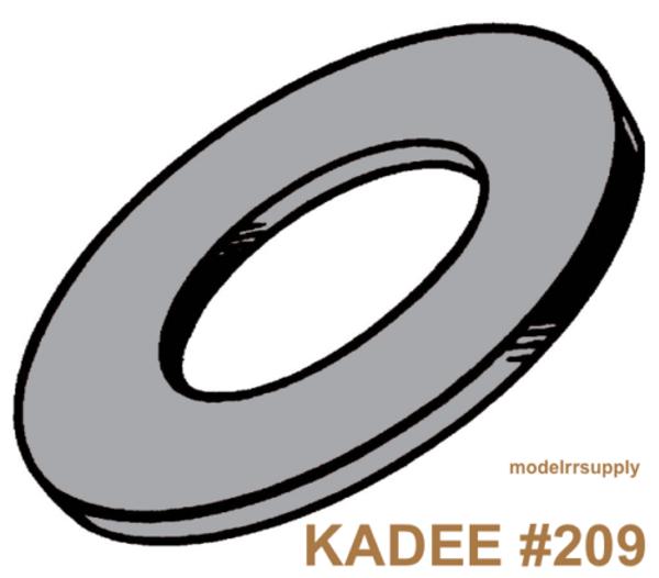 KADEE 209 Gray Insulating Fiber Washers .010in Thick (48) GENUINE KADEE