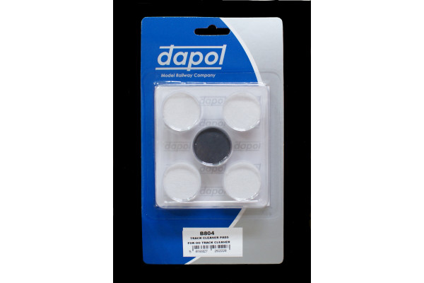 B804 OO/HO GAUGE DAPOL TRACK CLEANER SPARE CLEANING & POLISHING PADS