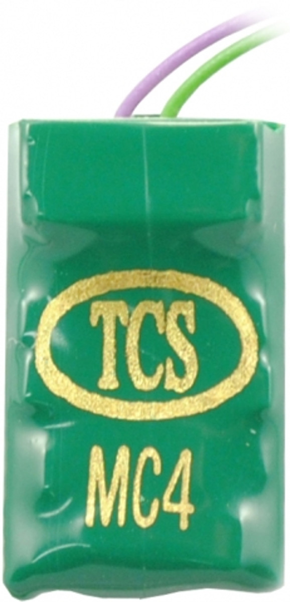 TCS 1017 MC4 4-function HO/N hard-wire decoder with a 7 pin JST socket.