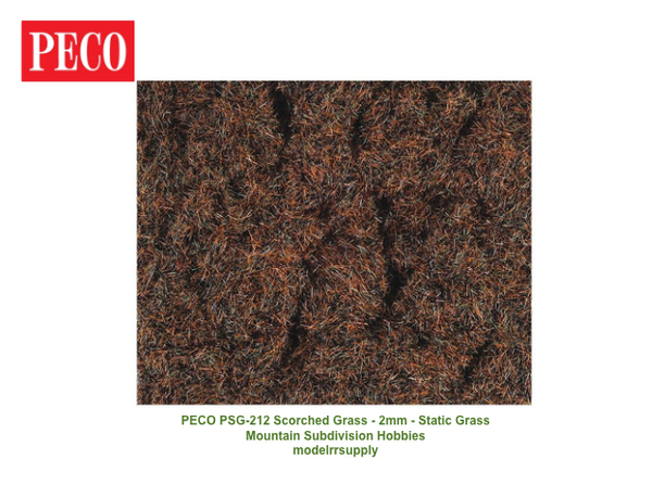 PECO Scene PSG-212 Static Grass - 2mm Scorched Grass 30G