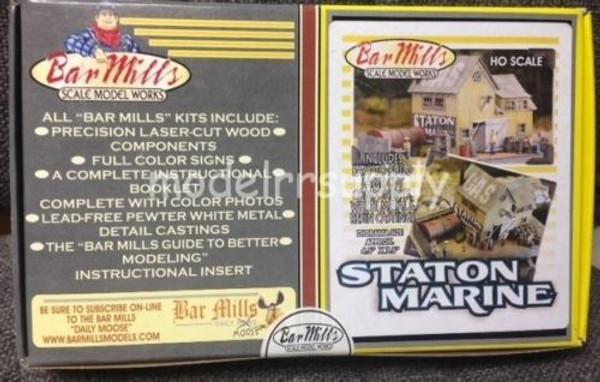 BAR MILLS 402 HO Staton Marine Laser-Cut Craftsman Structure Kit