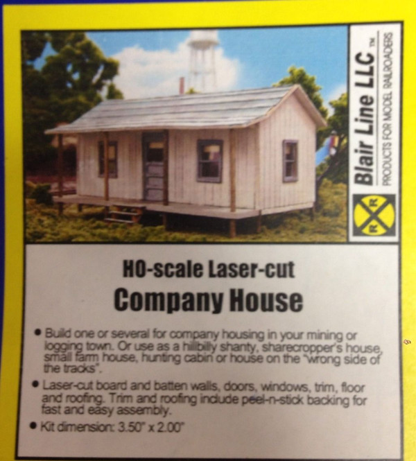 Blair Line 176 HO Company House - Laser Cut Kit