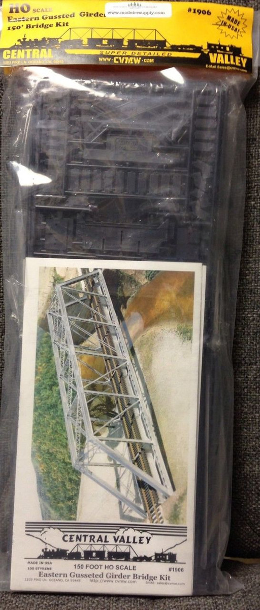 CENTRAL VALLEY 1906 HO 150' Truss Bridge kit Gusseted Girders