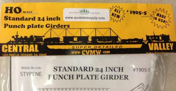 "CENTRAL VALLEY 1905-5 HO Standard 24"" Punch Plate Bridge Girders"