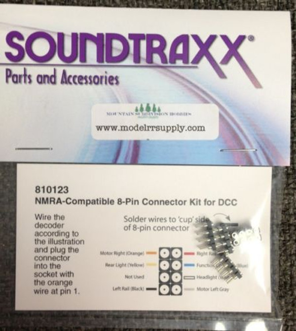 Soundtraxx 810123 NMRA 8 Pin Connector / Plug pkg/4