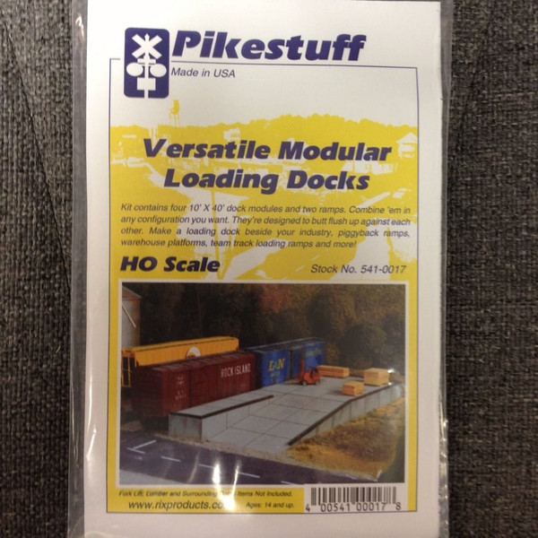 Pikestuff 17 Loading Docks - Modular Kit - HO Scale